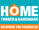 home timber and hardware logo