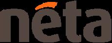 neta grey logo with orange accent