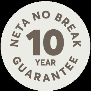 neta no break 10 year guarantee logo