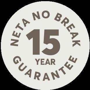 neta no break 15 year guarantee logo