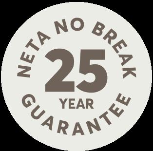 neta no break 25 year guarantee logo