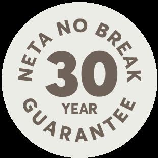 neta no break 30 year guarantee logo
