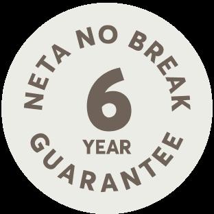 neta no break 6 year guarantee logo
